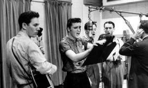Elvis in the recording studio