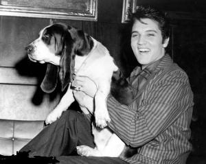 Elvis with Man's Best Friend - Elvis Photos