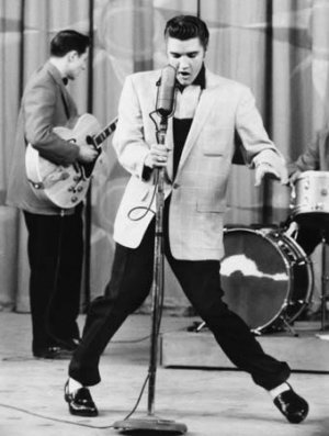 Elvis on stage