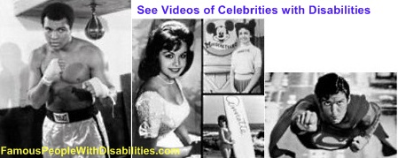 Videos of Celebrities Living with Disabilities